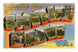 Greetings from Skyline Drive, Virginia Poster