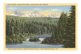 Three Sisters, Scotts Lake, Oregon Poster