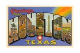 Greetings from Houston, Texas Poster