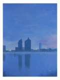 Chelsea Wharf, London, Crepuscle Giclee Print by Peter French