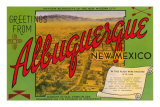 Greetings from Albuquerque, New Mexico Kunstdrucke