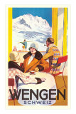 Advertisement for Swiss Ski Resort Prints