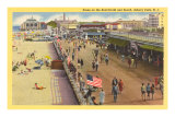 Boardwalk, Asbury Park, New Jersey Prints