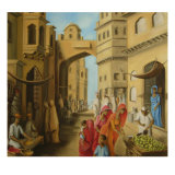 Bazaar at Midday Giclee Print by Sukhpal Grewal