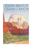 Poster, Zion, Bryce, Grand Canyon, National Parks Posters