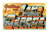 Greetings from Lake George, New York Posters