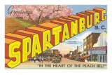 Greetings from Spartansburg, South Carolina Prints