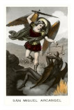 St. Michael the Archangel Fighting Dragon Lminas
