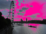 Pink London Eye Photographic Print by Paul Tolhurst
