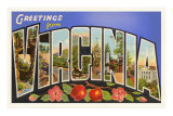 Greetings from Virginia Print