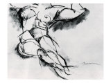 Study of a Nude Giclee Print by Umberto Boccioni