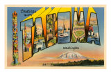 Greetings from Tacoma, Washington Poster
