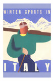 Winter Sports in Italy Print