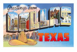 Greetings from Dallas, Texas Print