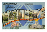 Greetings from Tacoma, Washington Print