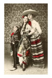 Mexican Family in Native Garb Julisteet