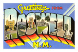 Greetings from Roswell, New Mexico Poster