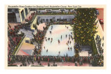 Skating Rink, Rockefeller Center, New York City Print