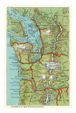 Map of Western Washington Poster