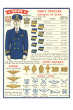 Naval Insignia Chart Fotografa