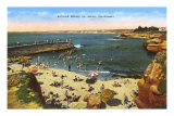Plage, Anse, La Jolla, Californie Poster
