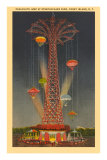 Parachute Jump Ride, Coney Island, New York City Poster