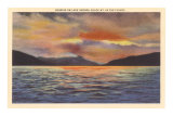 Sunrise on Lake George, New York Poster