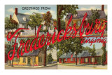 Greetings from Fredericksburg, Virginia Posters