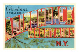 Greetings from Adirondack Mountains, New York Prints