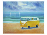 Camper Van Giclee Print by Mary Stubberfield