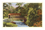 Covered Bridge, Valley Forge, Pennsylvania Poster
