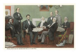Emancipation Proclamation Signing, Lincoln and Cabinet Prints