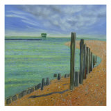 Groynes Giclee Print by Mary Stubberfield