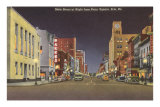 State Street at Night, Erie, Pennsylvania Posters