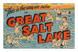 Greetings from Great Salt Lake, Utah Print