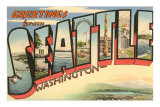 Greetings from Seattle, Washington Print