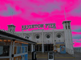 Brighton Pink Pier Photographic Print by Paul Tolhurst
