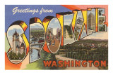 Greetings from Spokane, Washington Poster