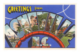 Greetings from Asheville, North Carolina Poster