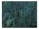 Stage of Mind: Those Who Stay Reproduction procédé giclée par Umberto Boccioni
