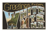 Greetings from White Mountains, New Hampshire Posters