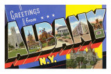 Greetings from Albany, New York Lminas