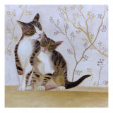 Cats Giclee Print by Mary Stubberfield