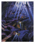 The Strengths of a Street Giclee Print by Umberto Boccioni