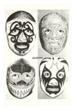 Masks of Mexican Wrestlers Poster