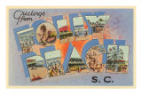 Greetings from Folly Beach, South Carolina Poster