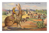 Texas Cowboy Herding from Jack Rabbit Poster