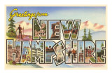 Greetings from New Hampshire Print