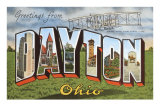 Greetings from Dayton, Ohio Print