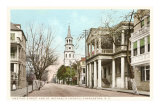 Meeting Street, St. Michael&#39;s Church, Charleston, South Carolina Print